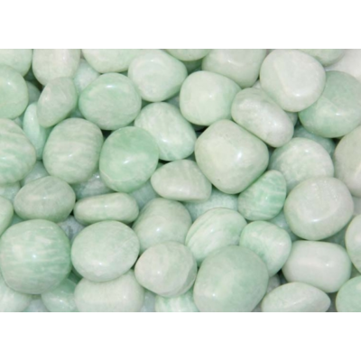 Pierre roulée - amazonite - lot de 3