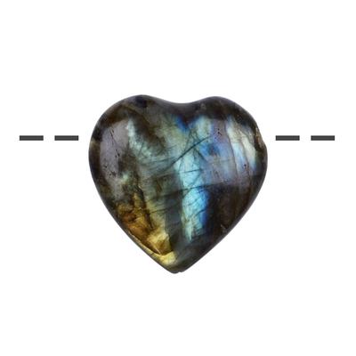 Coeur et bien etre labradorite 28mm