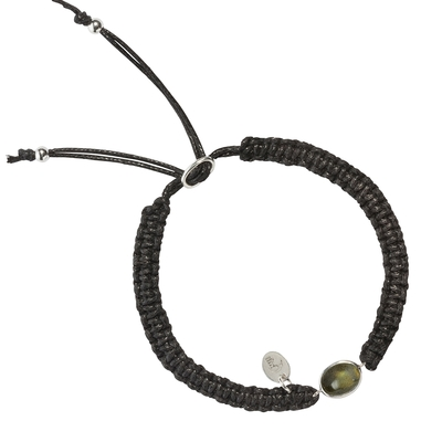 Bracelet macramé et labradorite oval