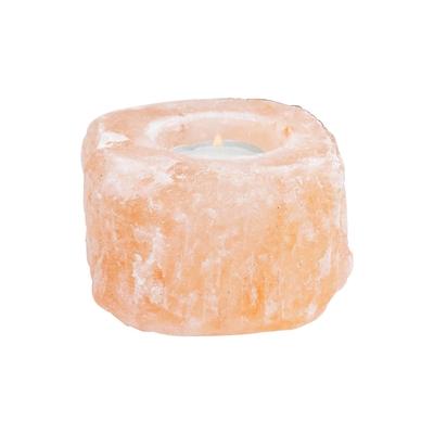 Bougeoir en sel de l'Himalaya brut - Moyen modèle