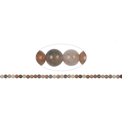 Fil de perles en pierre de lune 6mm