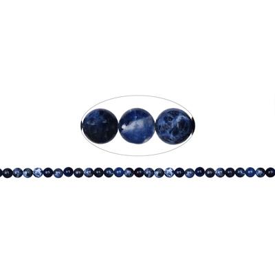 Fil de perles en sodalite 6mm