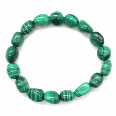 Bracelet-pierres-roulées-en-Malachite-naturelle