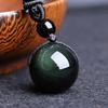 Pendentif-Obsidienne-Oeil-céleste-(Arc-En-Oeil)-pierre-Naturelle-Protection-et-Purification-Boule-16mm-1