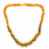 Collier-Ambre-Miel-et-perles-d'ambre-Brun-Adulte-de-45cm