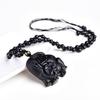 chinois-travail-manuel-naturel-noir-obsidienne-sculpt-m-re-b-b-mignon-l-phant-amulette-chanceux