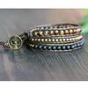 Bracelet-Triple-Oeil-de-tigre-Cuivre-et-Bois-noir-en-cuir-1