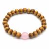 Bracelet-bois-naturel-et-pierre-de-quartz-rose-1