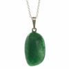 Pendentif-argent-Aventurine-verte-avec-chainette-argent-2