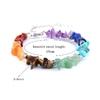 Bracelet baroque 7 chakras plaqué argent-5