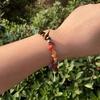Bracelet baroque 7 chakras plaqué argent-4