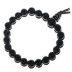 Mala tibétain 21 graines Power Bracelet Tourmaline noire boules 8 mm