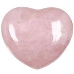 Quartz rose en forme de coeur 45x40mm