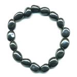 Bracelet pierres roulées en Hématite