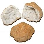 Paire de géode en cristal de roche de 8 à 12 cm