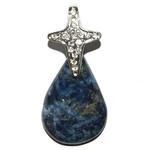 6007-pendentif-lapis-lazuli-de-forme-libre-avec-beliere-en-croix
