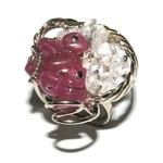 5117-bague-cristal-de-roche-et-agate-rose-mosaique-grande-duo-femme-stone-style