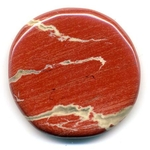 Mini pierre plate en jaspe rouge