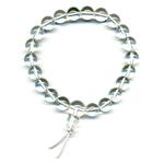 Mala tibétain 21 graines Power Bracelet Cristal de roche boules 8mm