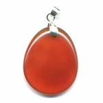 Cornaline en pendentif mini pierre plate