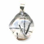 Pendentif-quartz-tourmaline-extra-bélière-argent-simple