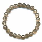 Bracelet en quartz fumé boules 8mm