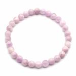 Bracelet-Kunzite-rose-boules-6mm