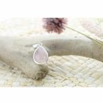 Pendentif quartz rose argent PM