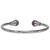 Bracelet-magnétique-métal-argenté-jonc-finition-2-boules-Améthyste