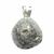 Pendentif-pyrite-naturelle-extra-béliere-argent