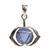 Médaille-Chakra-Ajna-Argent-925-avec-Onyx-Bleu-Naturel
