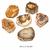 Tranche-polie-Bois-fossile-bloc-entre-50-et-100g