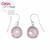 Boucles-d'oreilles-quartz-rose-à-facettes-en-argent