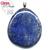 Pendentif-Lapis-Lazuli-Pierre-Plate-Extra-bélière-argent