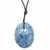 Pendentif-Calcite-bleue-Oval-Maxi-avec-cordon