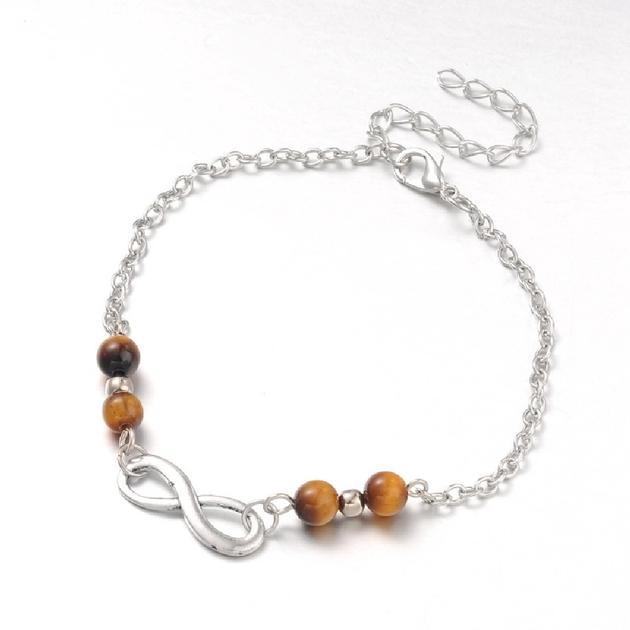 Bijoux Fantaisie Luxembourg Ville : Bracelet de cheville en oeil tigre r?glable bijoux