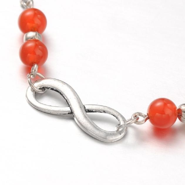 Bijoux Fantaisie Luxembourg Ville : Bracelet de cheville en agate rouge r?glable bijoux
