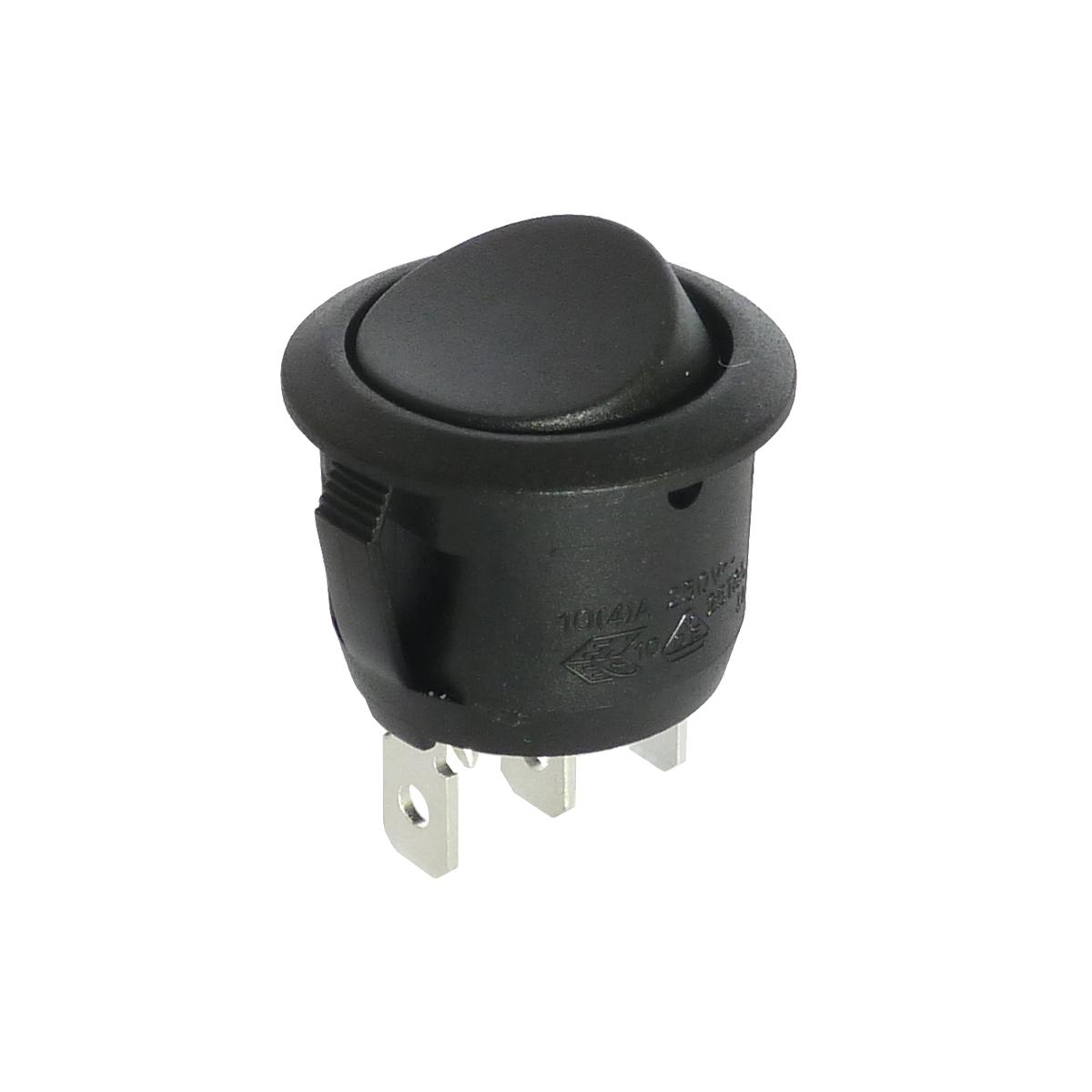Interrupteur inverseur à bascule rond noir, On-On, 250V