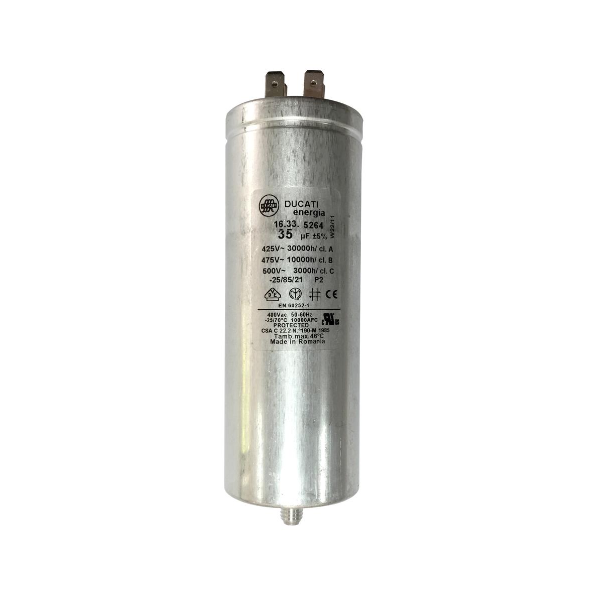 Condensateur moteur metallique 35 f ducati 16335264 for Condensateur moteur piscine