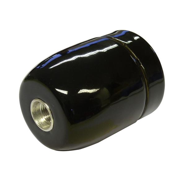 Douille E27 porcelaine émaillée brillante noire - Douille/Douille ...