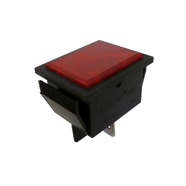 Voyant Rectangulaire type 22x30mm Rouge 220V