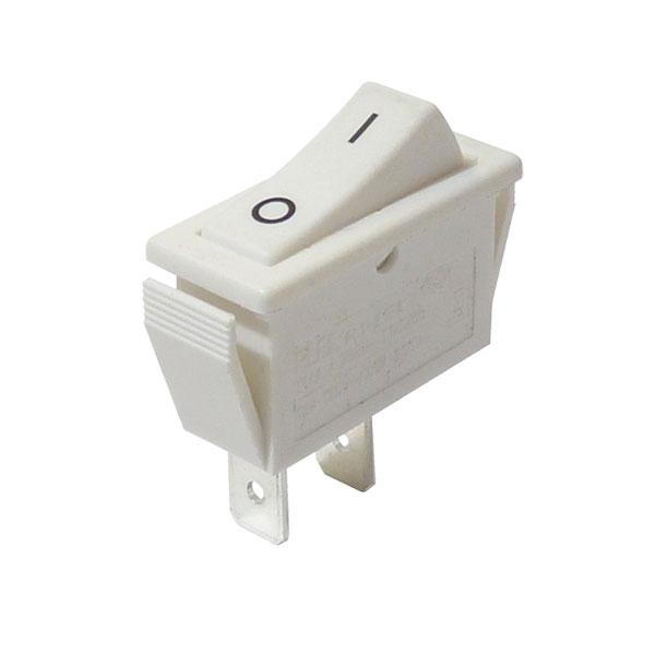 Interrupteur à bascule rectangulaire blanc marqué o - (On-Off)