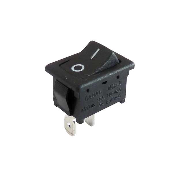 Interrupteur unipolaire à bascule marquée o - (On-Off), découpe panneau 13x19mm