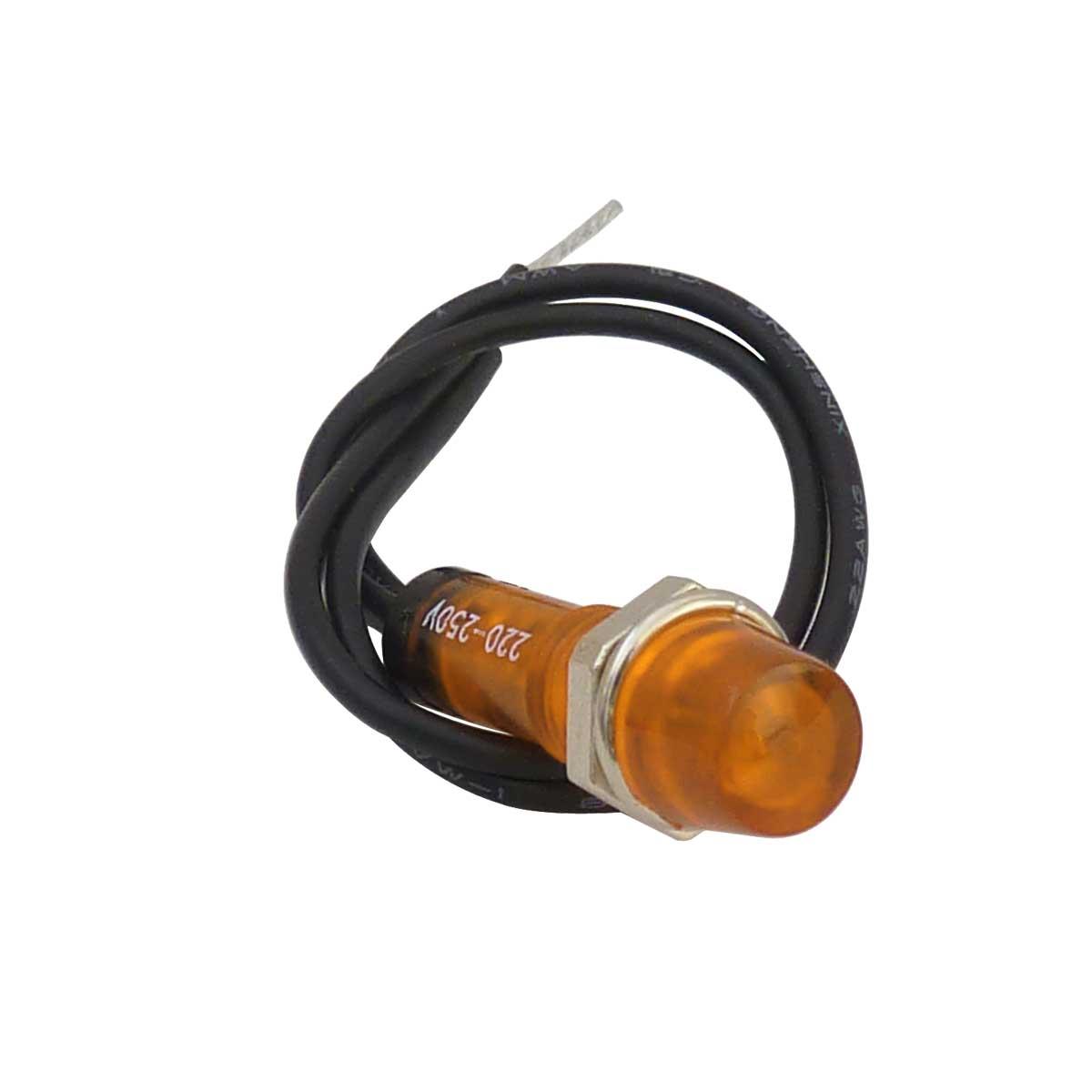 Voyant lumineux néon orange 220V 7mm