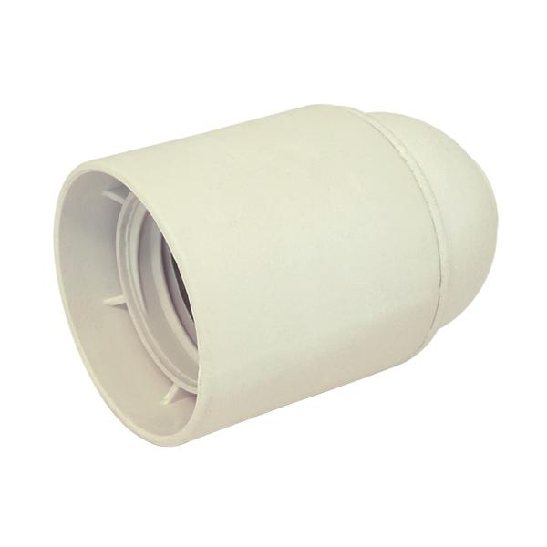Douille e27 bak lite lisse blanche douille douille e27 for Interrupteur porcelaine castorama