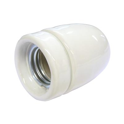 douille E27 porcelaine blanche
