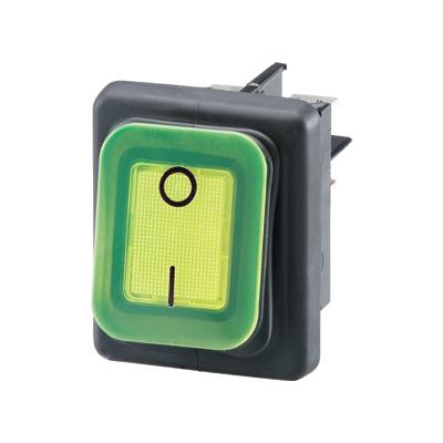 interrupteur vert étanche B4