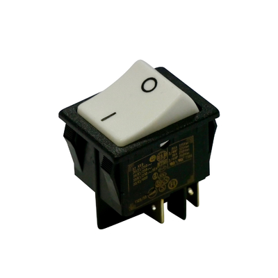 Interrupteur rectangulaire 22x30mm blanc