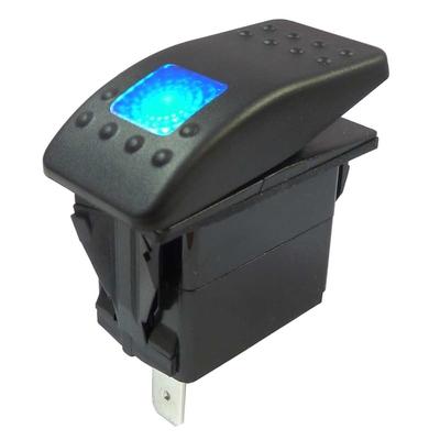 interrupteur étanche voiture marine 12V 24V lumineux bleu