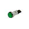 Voyant lumineux vert 230V 12mm avec bague chromée